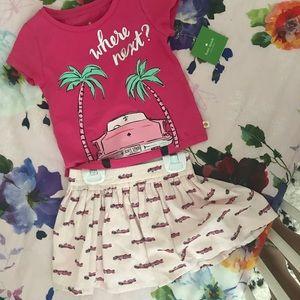 NWT Kate spade toddler size 2 shirt and skirt